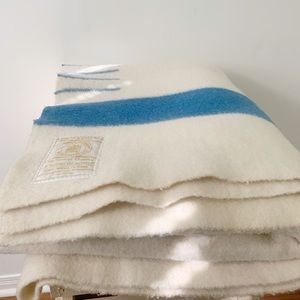 Vintage Hudsons Bay Full Four Point Wool Blanket